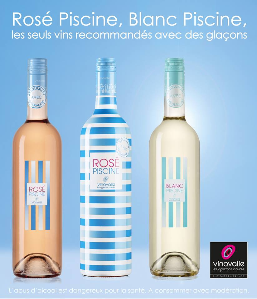 Vin blanc piscine for Vinovalie rose piscine